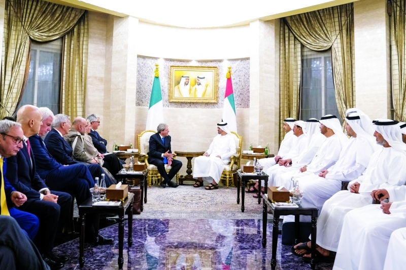 محمد بن زايد يستقبل رئيس وزراء إيطاليا و يبحث معه مكافحة الإرهاب