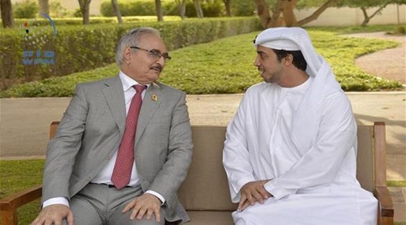 نائب رئيس الوزراء الإماراتي يلتقي  حفتر  في دبي