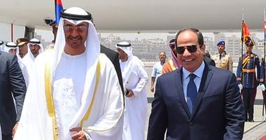 محمد بن زايد يستقبل السيسي في أبوظبي ويبحث معه تطورات المنطقة
