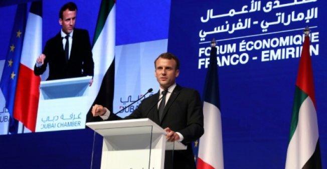خلال يومين فقط.. ما حجم الصفقات والمكاسب التي حققها الرئيس الفرنسي في أبوظبي؟!