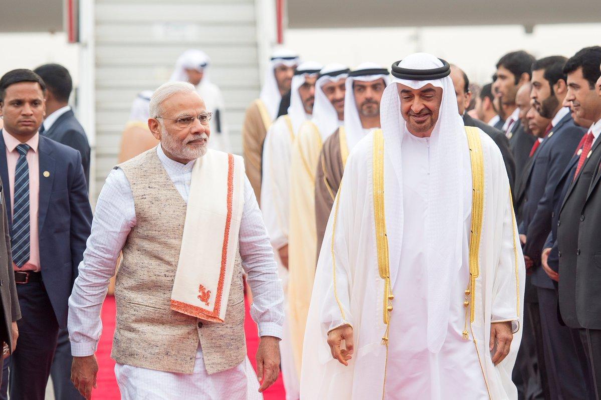 توقيع اتفاقيات شراكة استراتيجية شاملة  بين الإمارات والهند