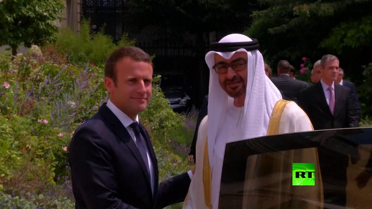 محمد بن زايد خلال لقائه الرئيس الفرنسي: حان وقت التصدي لـ