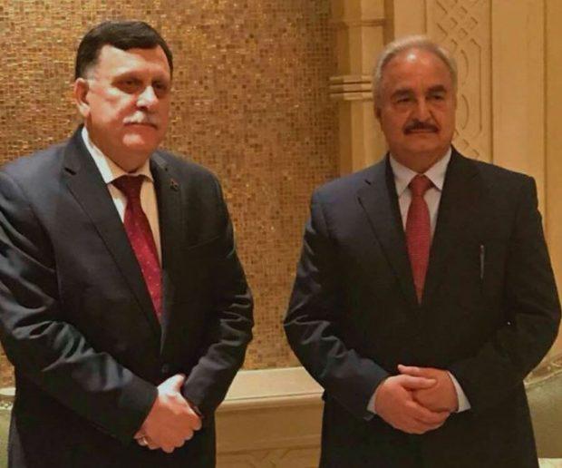 تعثر مفاوضات السراج وحفتر عقب اتفاق الإمارات