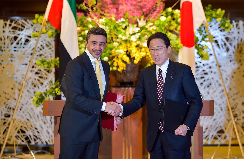 عبدالله بن زايد يزور طوكيو وإعفاء مواطني الإمارات من تأشيرات دخول اليابان