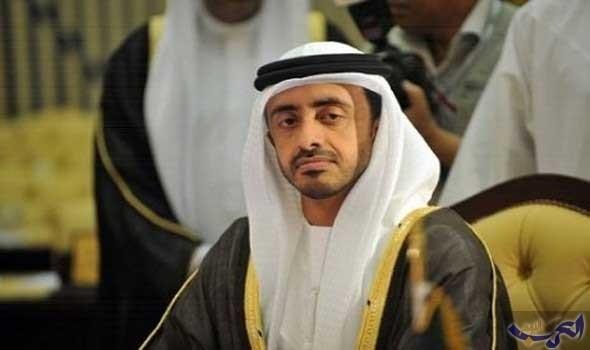 عبدالله بن زايد يبحث مع نظيره الأمريكي مكافحة الإرهاب وأزمتي اليمن وليبيا