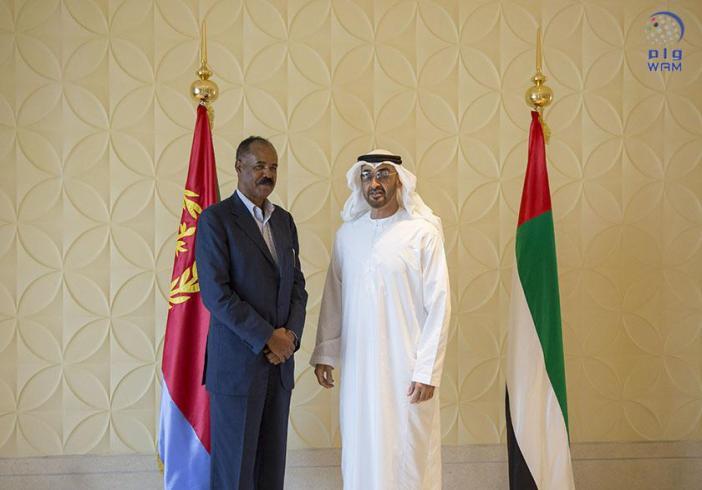 محمد بن زايد يستقبل الرئيس الأرتيري ويبحث معه العلاقات الثنائية