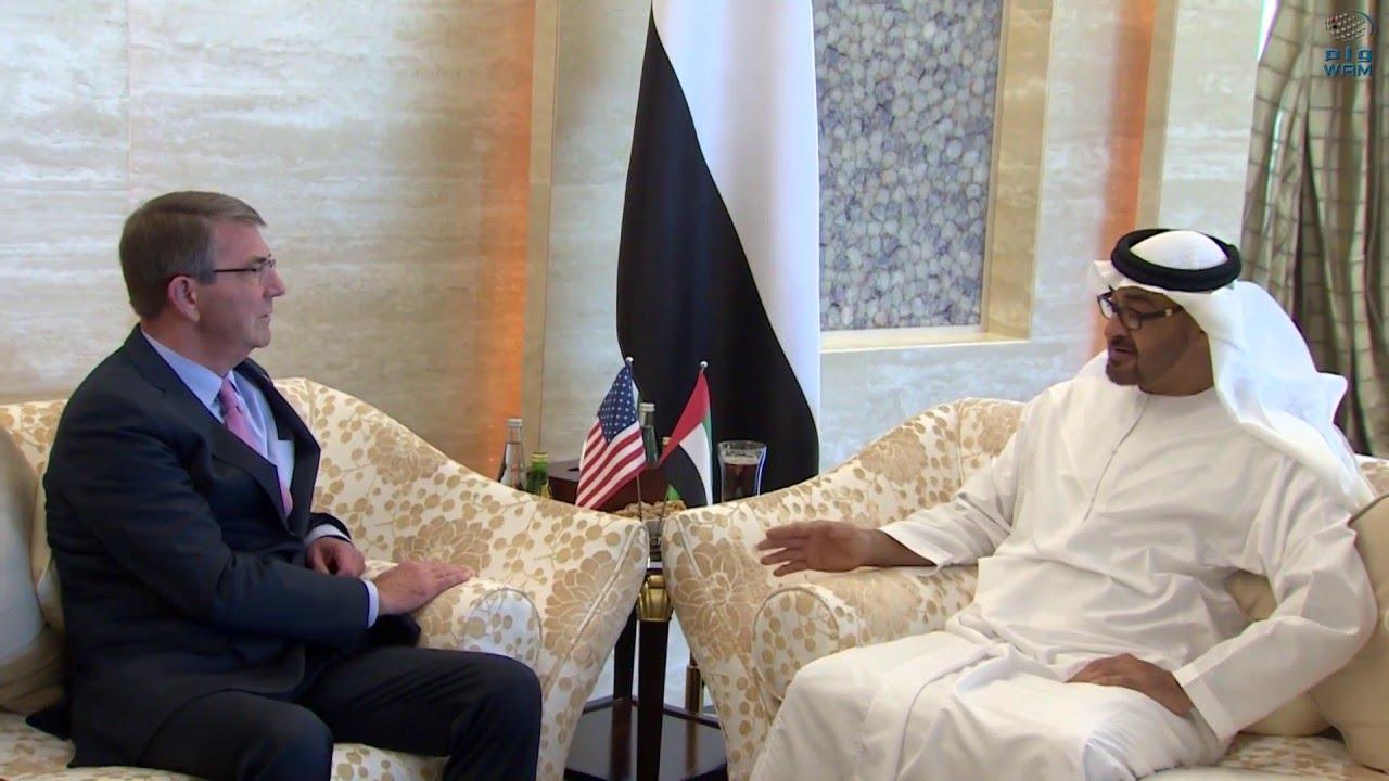محمد بن زايد يستقبل وزير الدفاع الأمريكي ويبحث