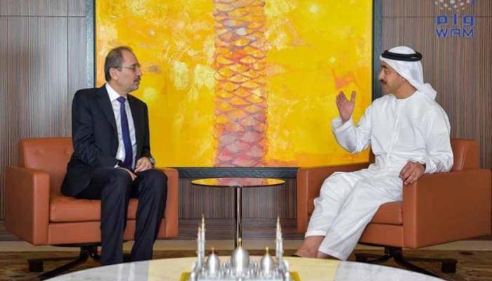 عبدالله بن زايد يستقبل وزير الخارجية الأردني ويبحث معه المستجدات الإقليمية والدولية