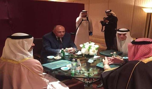 وزراء خارجية الإمارات والسعودية والبحرين ومصر يؤكدون التمسك بالمطالب الـ13من قطر