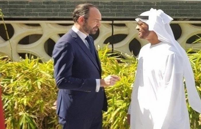 رئيس الوزراء الفرنسي يبحث مع محمد بن زايد في أبوظبي نعزيز العلاقات بين البلدين