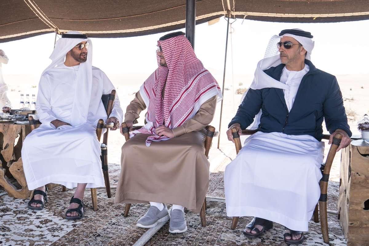 محمد بن زايد يستقبل وزير الداخلية السعودي