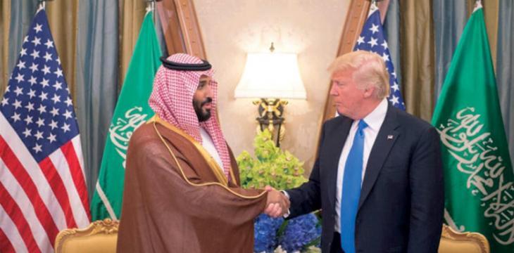 ترامب يجتمع مع محمد بن سلمان وإيران واليمن على رأس المحادثات
