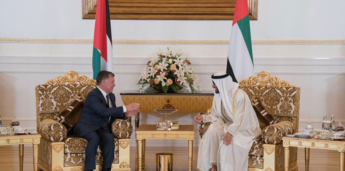 العاهل الأردني بصل الإمارات ويبحث مع قادة الدولة ملف القدس