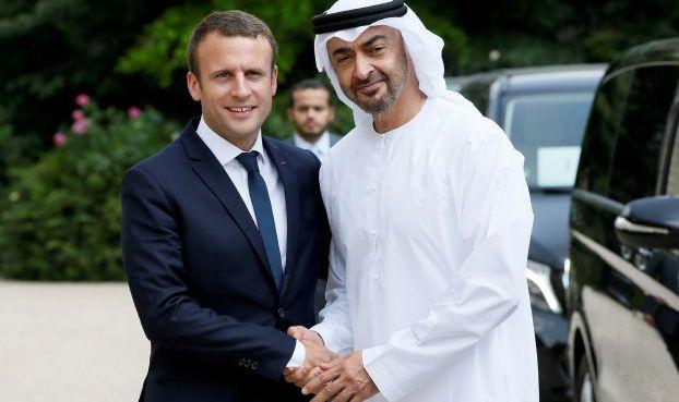 محمد بن زايد يتلقى اتصالا من الرئيس الفرنسي ماكرون