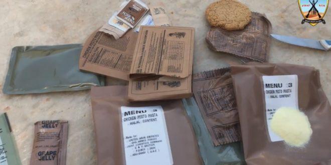 وجبات مصنعة للجيش الإماراتي في سيارات تابعة لقوات