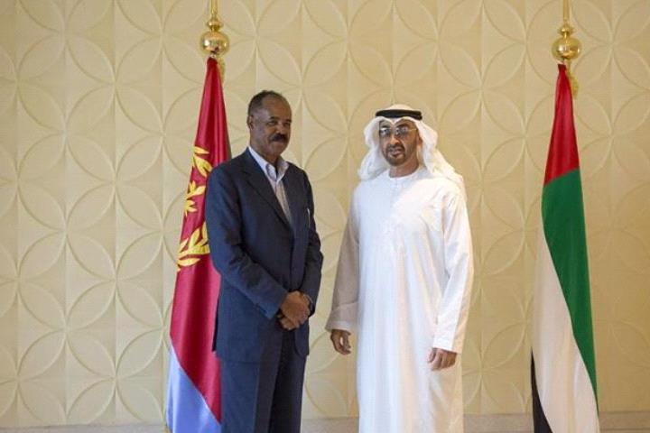 محمد بن زايد يستقبل الرئيس الأرتيري ويبحث معه العلاقات بين البلدين