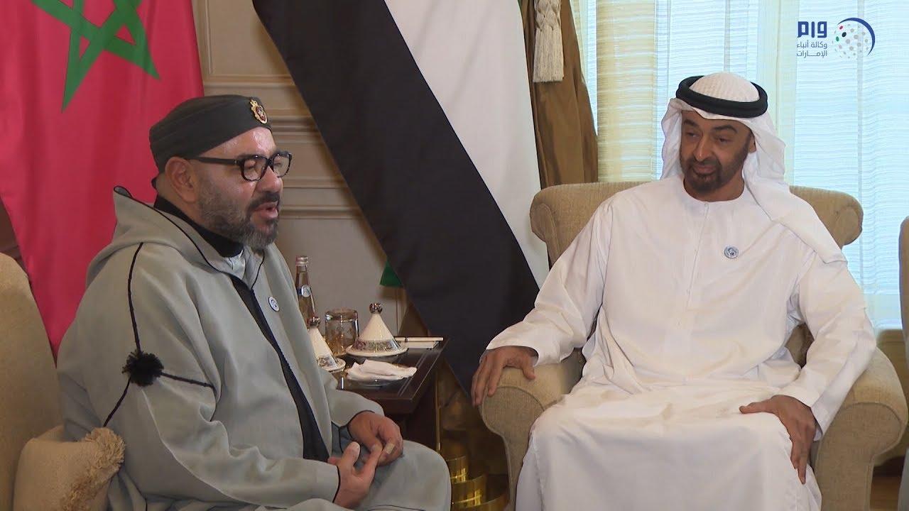 الملك محمد السادس يزور محمد بن زايد في مقر إقامته بالمغرب