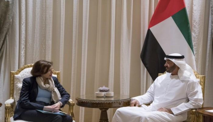محمد بن زايد يبحث مع وزيرة الجيوش الفرنسية العلاقات العسكرية بين البلدين