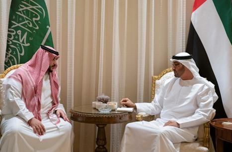 محمد بن زايد يبحث مع نائب وزير الدفاع السعودي تعزيز التعاون العسكري