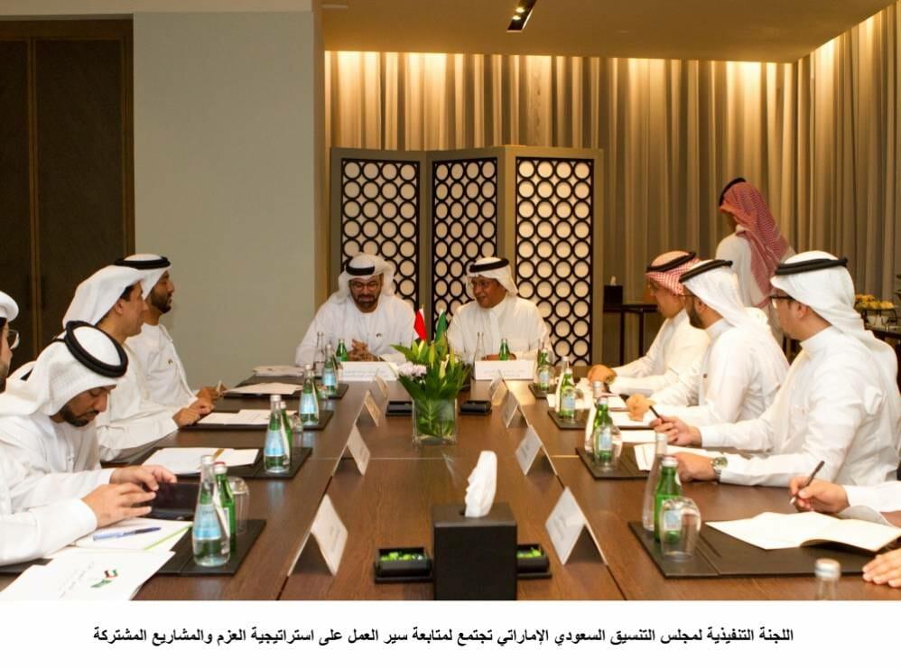 مجلس التنسيق السعودي الإماراتي يبحث مشاريع «استراتيجية العزم»