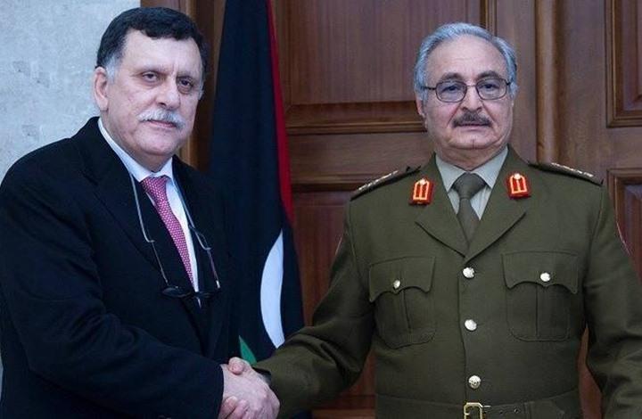 السراج يتفق مع حفتر في أبوظبي على إنهاء المرحلة الانتقالية في ليبيا عبر انتخابات عامة