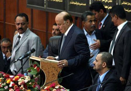 هادي يدعو البرلمان اليمني للانعقاد بحضرموت...و