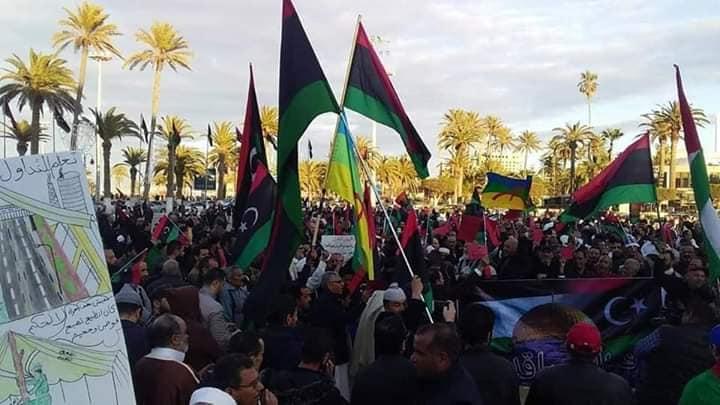 مظاهرات في ليبيا ضد لقاء السراج وحفتر في الإمارات