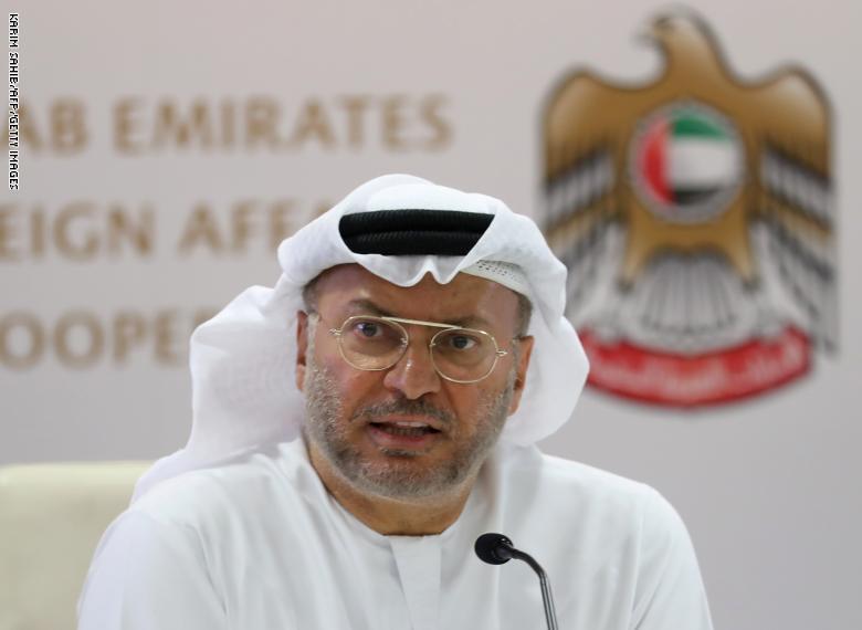 قرقاش : قطر أمام خيارين لحل الأزمة وعلى إيران مراجعة سياساتها