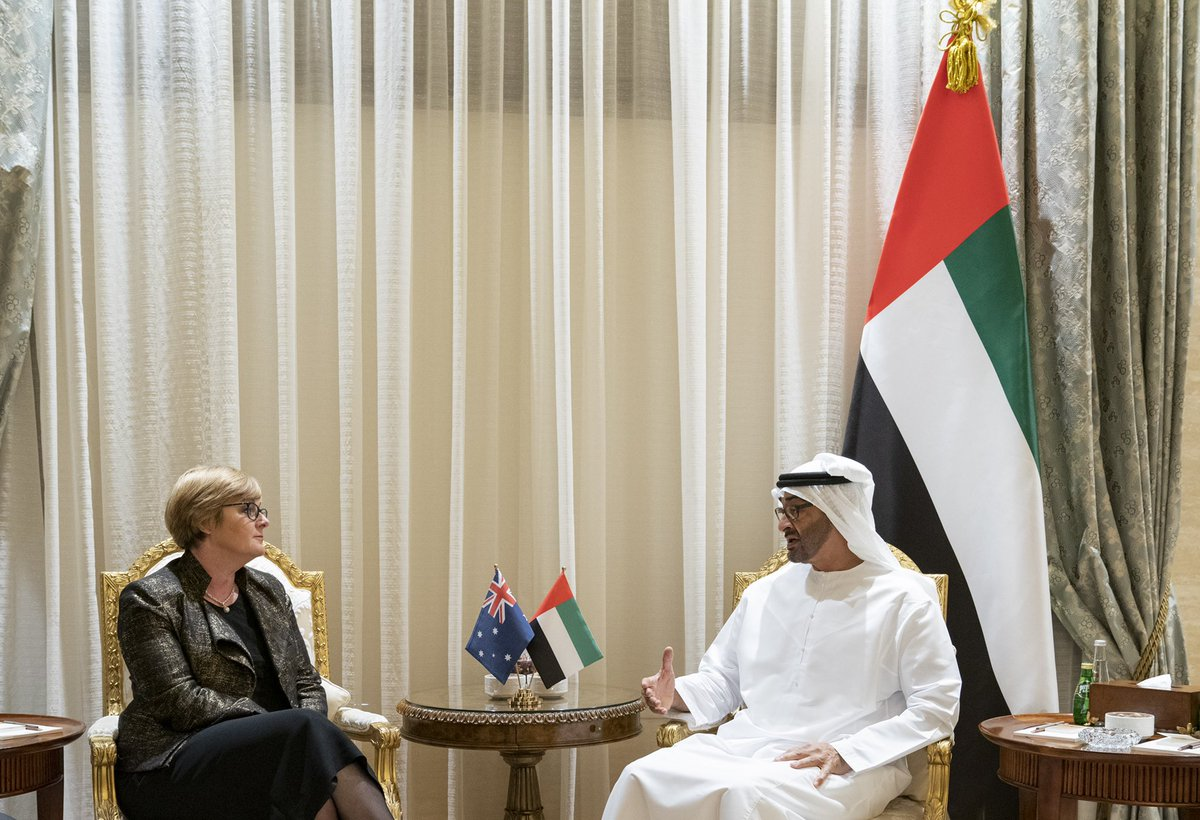 محمد بن زايد يبحث مع وزيرة الدفاع الأسترالية التعاون العسكري بين البلدين