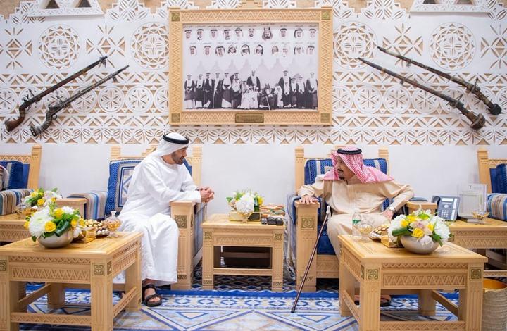العاهل السعودي يستقبل ولي عهد أبو ظبي