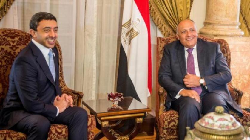 عبدالله بن زايد يبحث مع كل من وزيري خارحية مصر والأردن التطورات في المنطقة