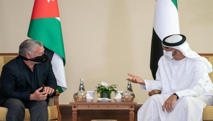 محمد بن زايد يستقبل ملك الأردن ويبحث معه تطورات المنطقة والقضية الفلسطينية